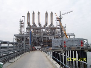 National Grid CBNI SVT loading arm terminal, Isle of Grain, Kent