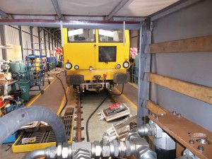 Balfour Beatty rail Matisa maintenance train hydraulic system flushing